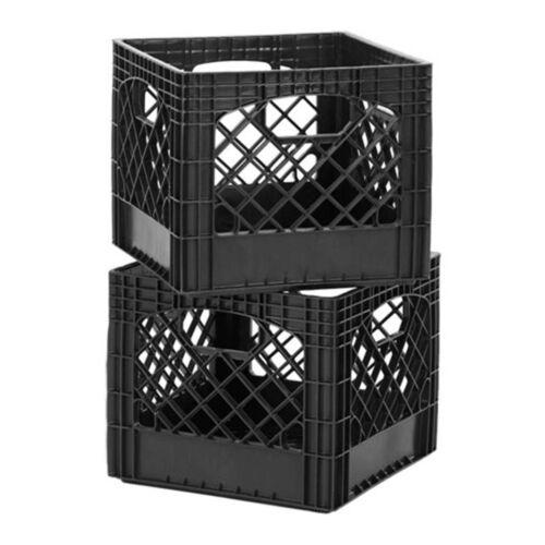 Crate Storage Bins Milk Classic Commercial Stackable Crates Grade Plastic Black
