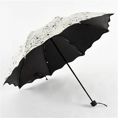 Girls C37LJ Windproof Anti UV Sun Rain Parasol Bring 3-Folding Umbrella New