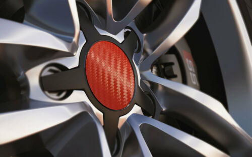 Wheel Centre Cap Badges Red Carbon 36 mm 40 50 55 57 60 65mm 67mm 70mm 80mm 90mm