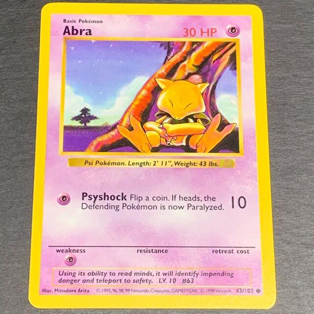 Abra Base Set 43//102 SHADOWLESS Pokemon Card