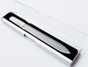 TOP-QUALITY-Medium-Size-GLASS-NAIL-FILE-DISPLAY-CASE-File-NOT-included