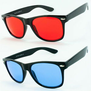 Black-Frame-Sunglasses-Retro-Vintage-Vintage-Style-Red-Blue-Yellow-Color-Lens