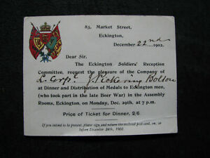 1902-BOER-WAR-MEDAL-AWARD-INVITATION-named-British-Army-ECKINGTON-SOLDIERS-old