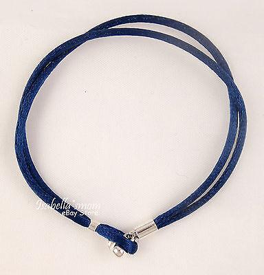 Marine / Bleu Foncé Véritable Pandora Tissu Cordon Simple Bracelet 19.5/7.6