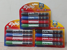 3 Pks Expo Dry Erase Markers With Ink Indicator Chisel Tip Assorted Colors Nip
