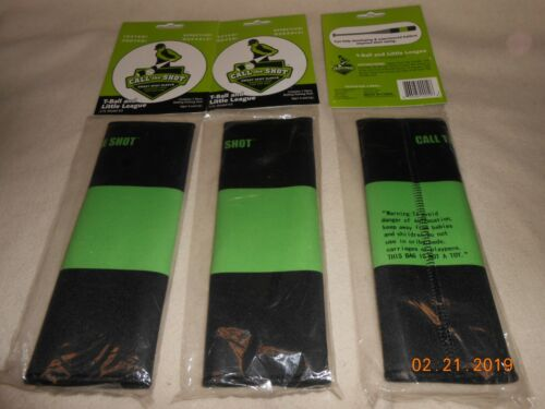 NEW lot 3 Batting and training tool Call The Shot T-Ball//Little League sleeve 4+