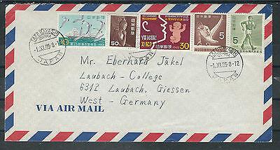 Briefmarken Nett Alle Welt Japan Herrliche Bundfrankatur Vom 1.11.1965 Mit Lupo Nach Deutschland