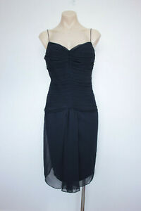 MATICEVSKI-Size-14-Dress-Navy-Ruched-Cocktail-Formal-RRP-250-BNWT