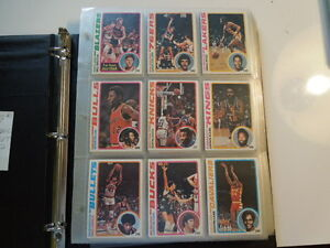 1978-79-TOPPS-Basketball-Complete-card-Set-of-132-cards-EX-to-Mint-Collection