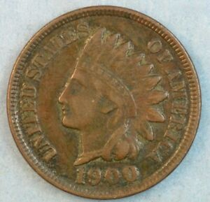1900 Indian Head Cent Penny Liberty Very Nice Vintage Old Coin Fast S&H 34003