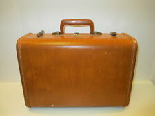 VINTAGE SAMSONITE LEATHER  CARRY-ON HARD SHELL SMALL SUITCASE 15x10