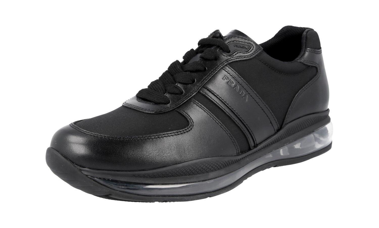 LUXUS PRADA SNEAKER Zapatos 4E2858 Negro Negro Negro MIT AIR SOHLE NEU NEW 7 41 41,5 a6b05e