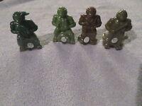 Tmnt - Complete 1990 Bubble Gum Figure Set - - All 4 Characters
