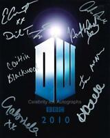 DOCTOR WHO Multi Signed Cast Shot - 8 GENUINE AUTOGRAPHS UACC (Ref:5111)