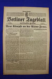 De Berlin Dealer (21.4.1917): Nouvelles Luttes à L'aisne = Front-afficher Le Titre D'origine