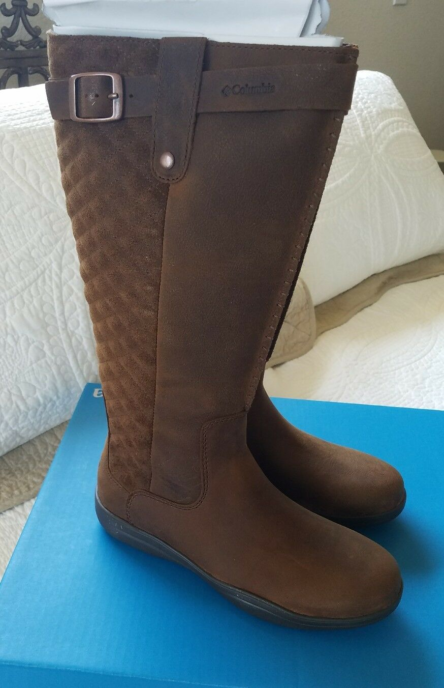 8a4adf27a3b Columbia Lisa Waterproof Leather BOOTS Tobacco Brown Women's Size 6