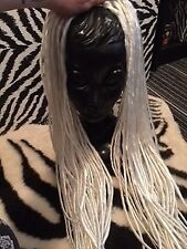 """45 Platinum Blonde White Double Ended 28"""" inch Dreadlocks Hair Extensions"""