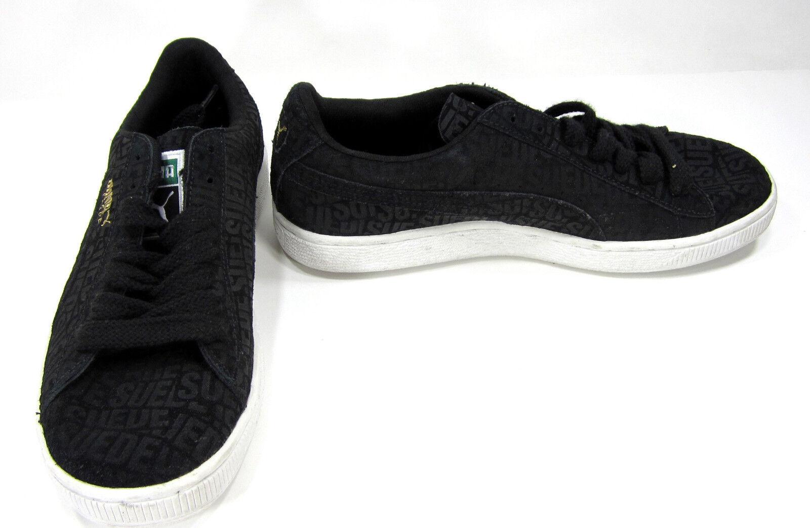 Puma Zapatos Gamuza Clásico repetir lo Zapatillas Negro blancoo