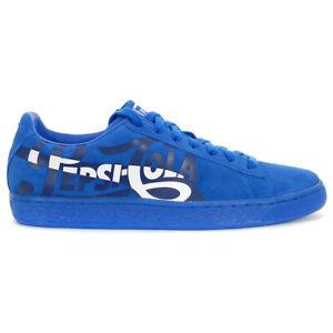 PUMA Men's Suede Classic X Pepsi Clean Blue/Silver Shoes 36633201 NEW!