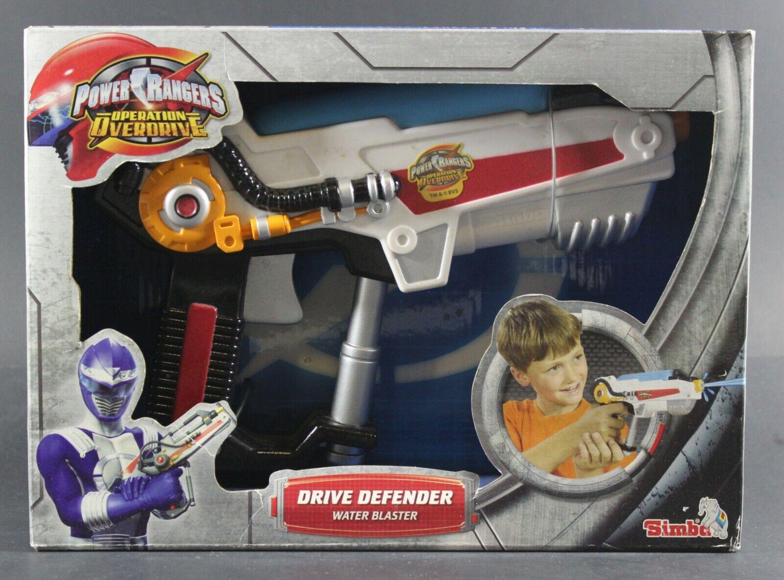 2006 Simba Power Rangers Drive Defender Eau Blaster Pistolet difficile op. Overdrive