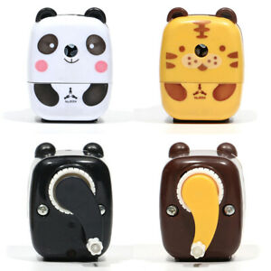 Desktop-Pencil-Sharpener-Hand-Crank-Cartoon-Cute-Panda-Student-Kids-High-Quality