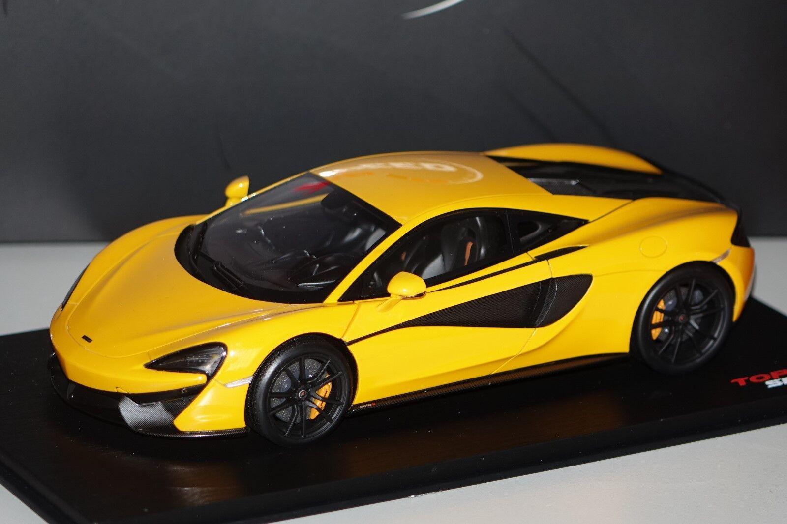 McLaren 570 S Jaune 1 of 999 1 18 TOP SPEED ts0046 NOUVEAU & NEUF dans sa boîte