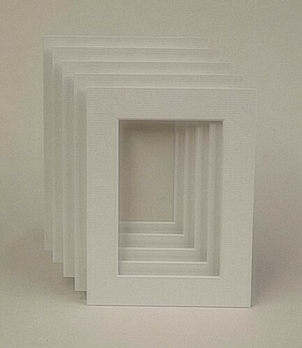 ALL SIZES 50 TEXTURED OFF WHITE PICTURE MOUNTS