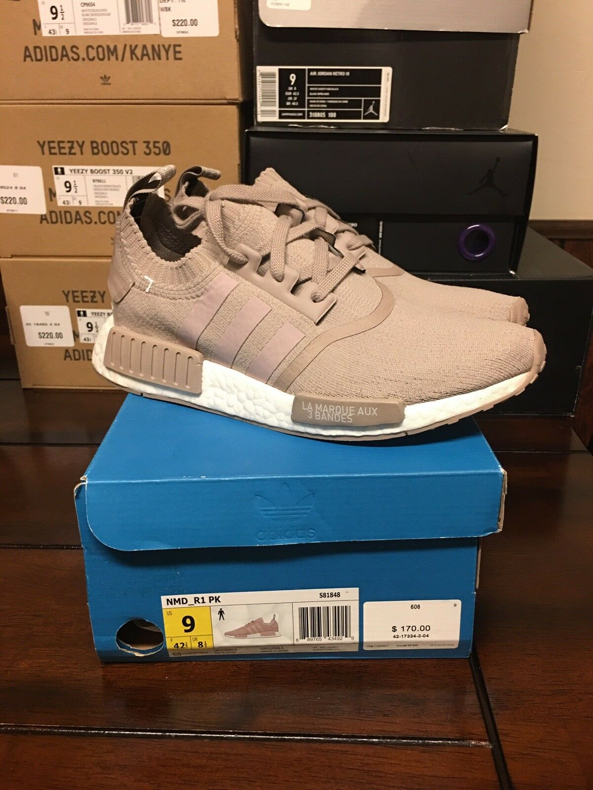 Adidas NMD French Beige PK Size 9 Ds Brand New Authentic S81848