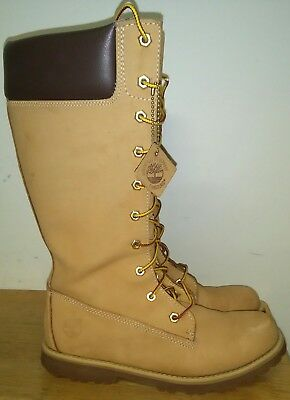 Precursor Mala suerte comida  Timberland 83980 Juniors Tall Trail Boots Nubuck Wheat. Size 5.5 | eBay