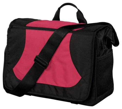 BG78 Port Authority Shoulder Strap Water Bottle Holder Polyester Messenger Bag