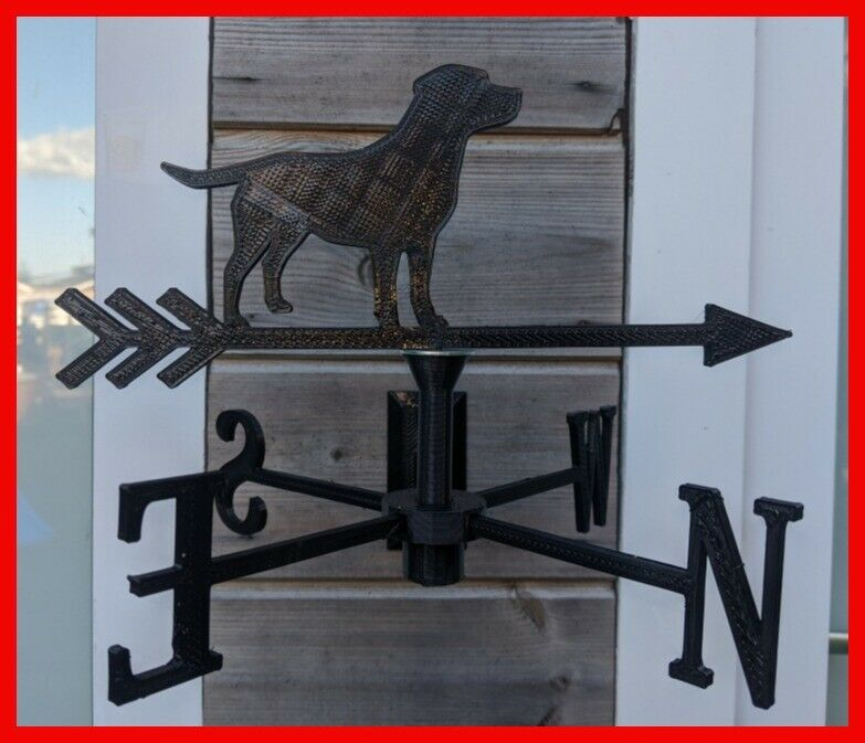 Labrador Dog Acrylic Garden Weather Vane Wall, Pole or Post Mounted