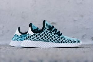 best service 423cf 5258e Image is loading Adidas-Originals-Deerupt-Runner-Parley-Black-Blue-Mens-