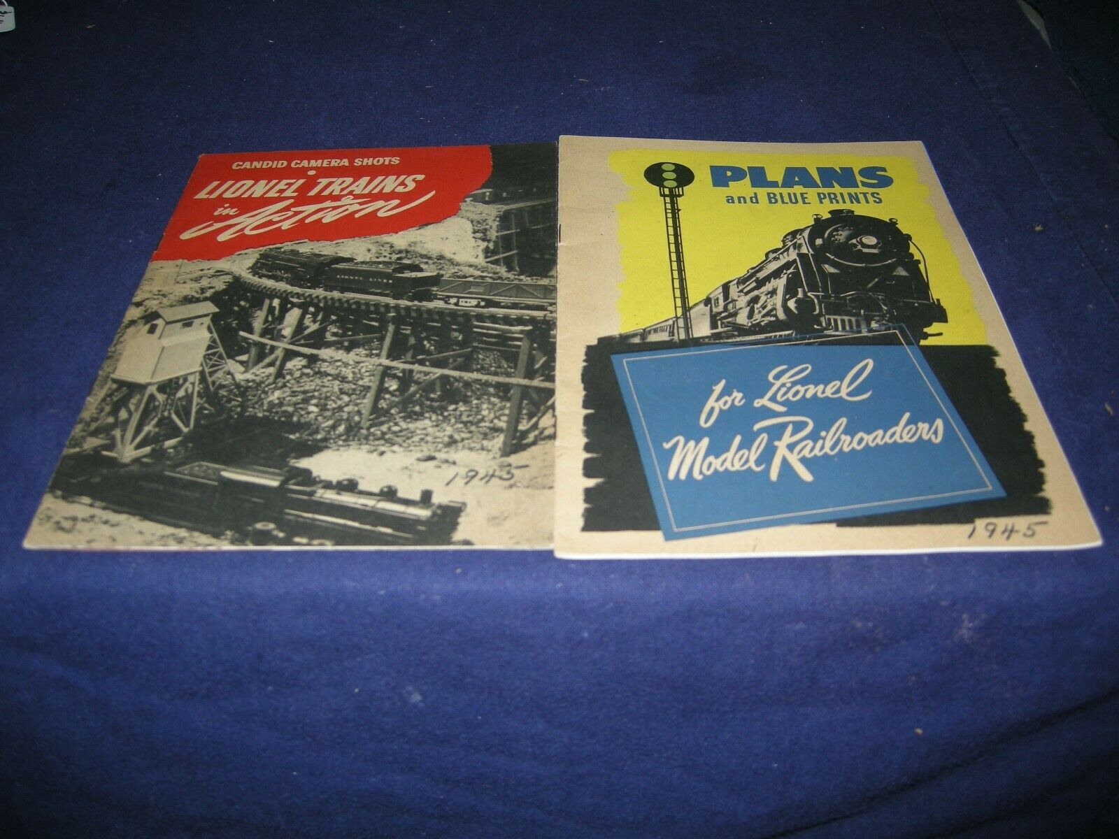 LIONEL PLANS AND LAYOUT PICTURES 1945 AS SHOWN