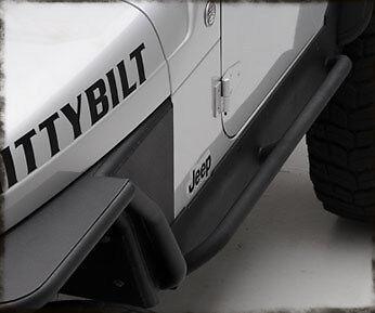 Smittybilt XRC Armor Rock Sliders w// Step 97-06 Jeep Wrangler 76871 Black