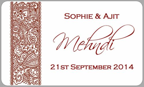 21 x mehndi party stickers wedding occasions henna paisley labels personalised