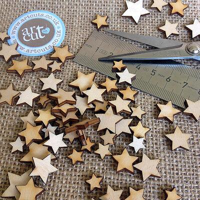 Wooden MINI MIXED STARS Embellishments weddings craft card making scrapbook