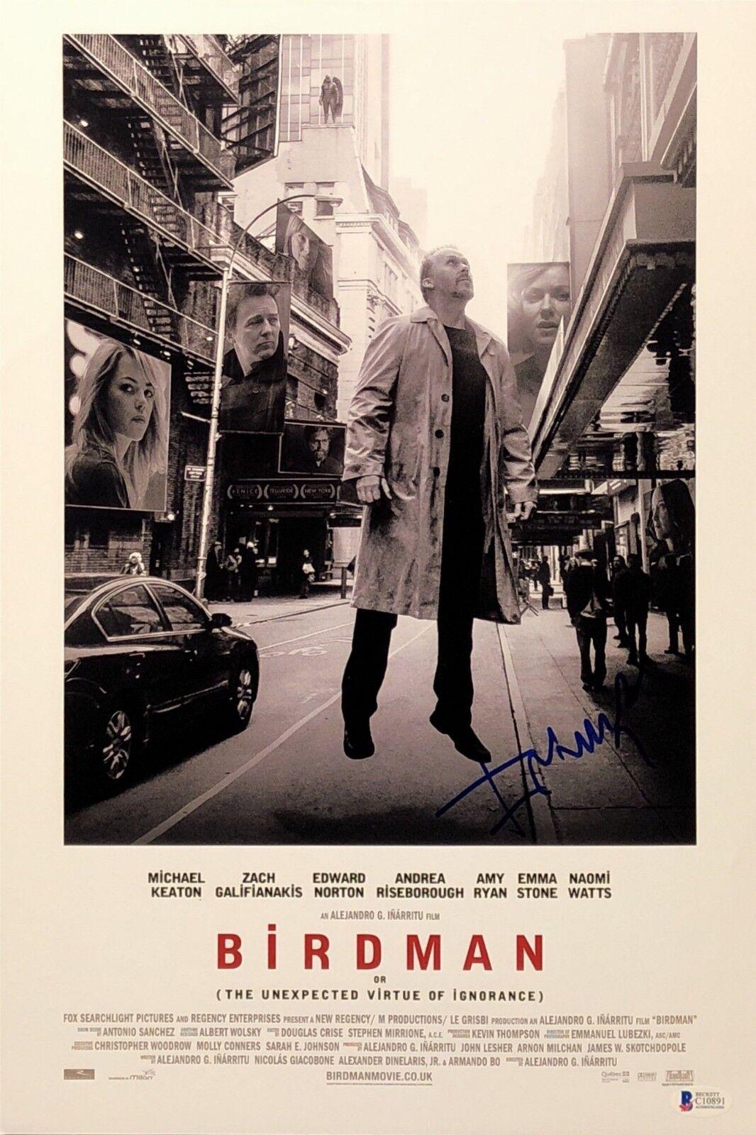 Alejandro Inarritu Signed 'Birdman' 12x18 Photo Beckett BAS C10891