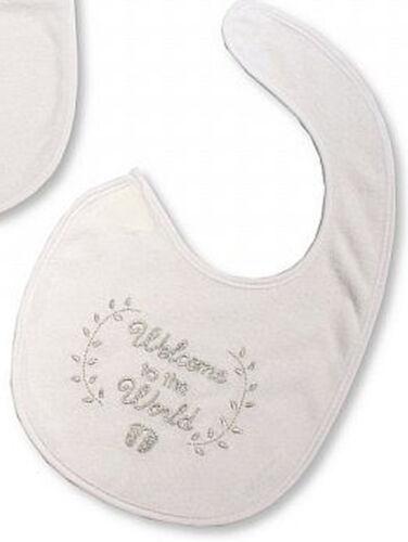 Baby Lätzchen Taufe festlich verschiedene Motive weiss silber bestickt