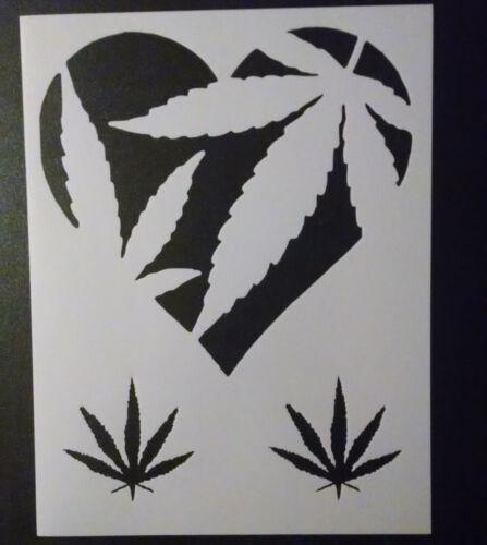 """Amor corazón hojas de marihuana hoja de marihuana 8.5/"""" X 11/"""" Personalizado De Plantilla De Envío Gratis"""