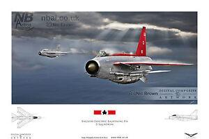 English Electric Lightning F6 5 Squadron RAF Binbrook Digital Art Print - <span itemprop='availableAtOrFrom'>Bures, United Kingdom</span> - English Electric Lightning F6 5 Squadron RAF Binbrook Digital Art Print - Bures, United Kingdom