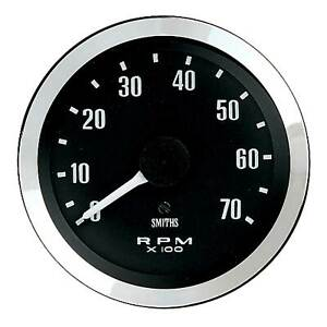 Smiths-Classic-Tachometer-Rev-Counter-100mm-Diameter-Black-Face-4-Cylinder