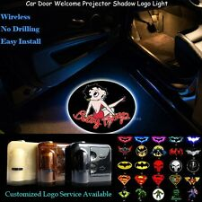 2x Betty Boop Logo Wireless Car Door Laser Projector Ghost Shadow CREE LED Light