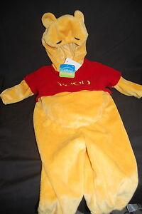 Walt-Disney-Pooh-Costume-12M-NWT-Plush-Halloween-Soft-Fleece-One-Piece-Infant