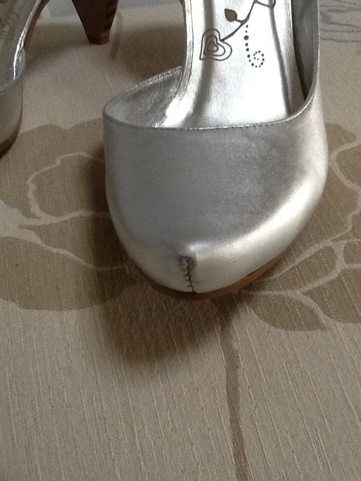 Firetrap silver courts 3 with ankle strap UK 3 courts 9d8c1c