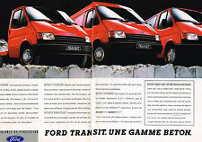 PUBLICITE ADVERTISING 124  1987  FORD TRANSIT   les utilitaires GAMME BETON ( 2p