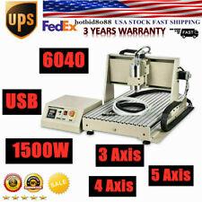 3 4 Axis Cnc Router Usb Paralle Engraver 6040 Desktop Milling Drilling Machine