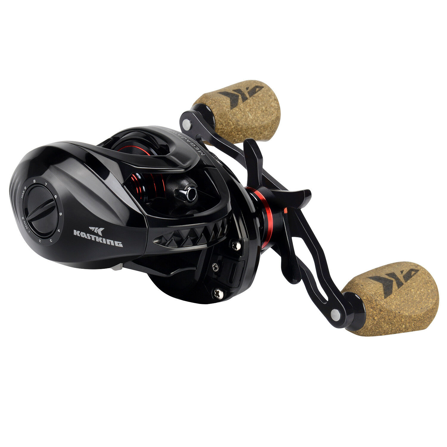 KastKing MegaJaws Baitcasting Reel color-Coded Gear Ratios from 5.4 1 to 9.1 1