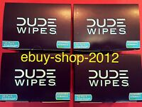 Dude Wipes Final Four March Madness 4 Box 30 Pack Singles (120 Wipes)