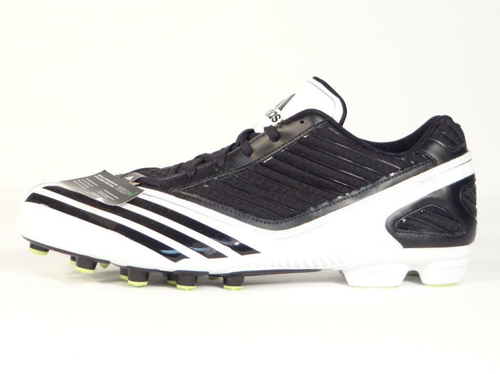 Adidas Scorch Thrill Field Turf Football Cleats Black & White Mens NWT