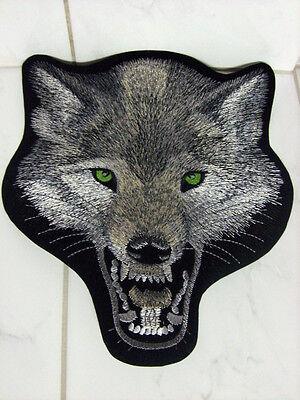 Fahne Aufnäher Aufbügler Patch Rückenaufnäher Wolf - 23,5 x 26 cm
